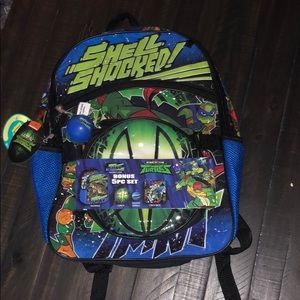 TMNT back pack lunchbox combo NWT